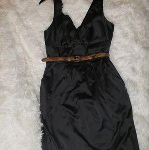 Bisou bisou sleeveless satin-looking dress